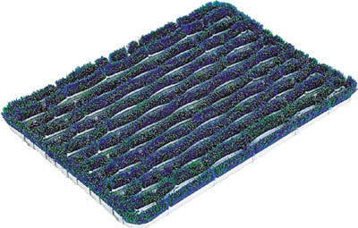 コンドル (屋外用マット)ユニクリーンマット 4(600×900mm)【F-23-4】(床材用品・マット)