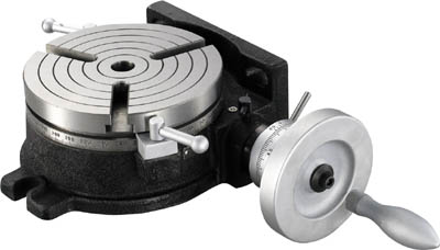 TRUSCO ロータリーテーブル外径152mm【HV-6】(ツーリング・治工具・フライス盤用工具)