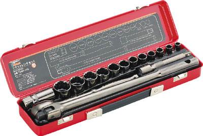 TRUSCO ソケットレンチセット 差込角12.7mm 16S【TSW4-16S】(レンチ・スパナ・プーラ・ソケットレンチセット)