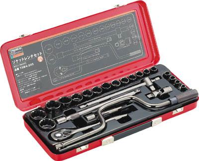 TRUSCO ソケットレンチセット 差込角12.7mm 24S【TSW4-24S】(レンチ・スパナ・プーラ・ソケットレンチセット)