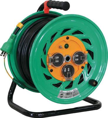 日動 電工ドラム 防雨防塵型100Vドラム アース付 30m【FW-E33】(コードリール・延長コード・コードリール防雨型)