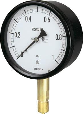 長野 密閉形圧力計【BE10-131-0.1MP】(計測機器・圧力計)
