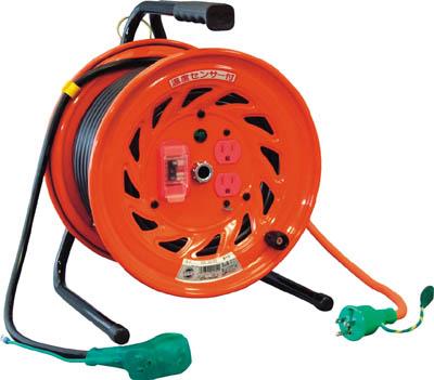 日動 電工ドラム びっくリール 100V アース過負荷漏電しゃ断器付 30m【RND-EK30S】