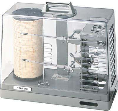 佐藤 シグマ2型温湿度記録計【7210-00】(計測機器・温度計・湿度計)