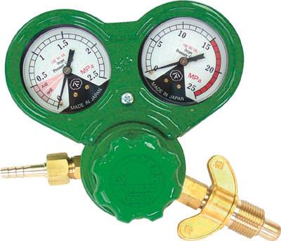 ヤマト 溶断用調整器 SSボーイジュニア(OX)関西式【N-SSJ-OX-W】(溶接用品・ガス調整器)