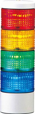 パトライト LES-AW型 LED薄型小型積層信号灯 Φ50 直取付け【LES-402AW-RYGB】(電気・電子部品・表示灯)