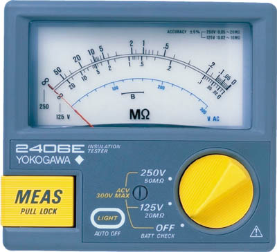 横河 アナログ絶縁抵抗計【2406-35】(計測機器・電気測定器)