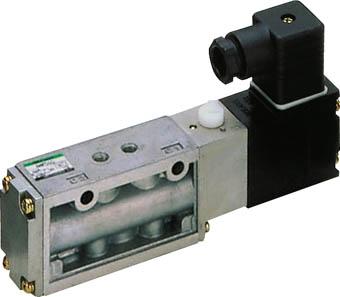 CKD 4Fシリーズパイロット式5ポート弁セレックスバルブ【4F210-08-AC100V】(空圧・油圧機器・電磁弁)
