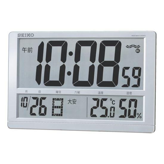 SEIKO 大型液晶電波掛置兼用時計 SQ433S【送料無料】