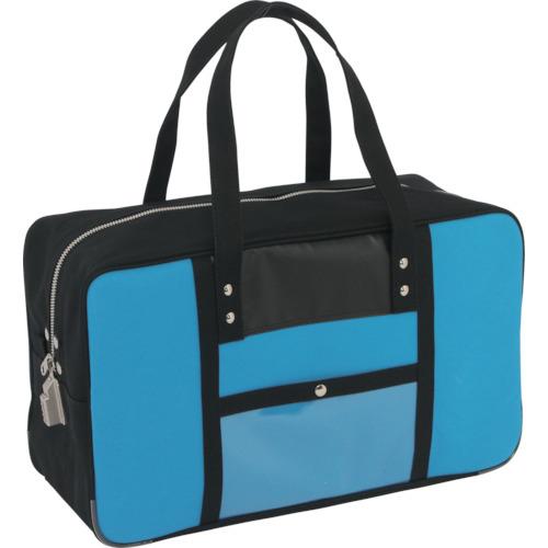 送料無料 SANEI 特別セール品 帆布メール用ボストン L 贈呈 BTLSED09 SED-1錠付 ブルー