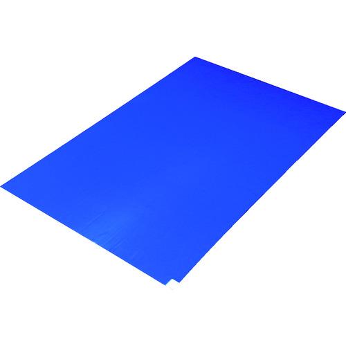 TRUSCO トラスコ 粘着クリーンマット 450X900MM ブルー (10シート) CM459010B【送料無料】