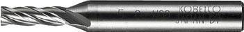 三菱K 4枚刃センターカットエンドミル(Lタイプ)【4LCD2500】(旋削・フライス加工工具・ハイススクエアエンドミル)