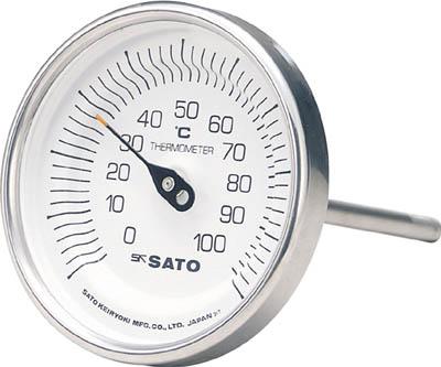 佐藤 バイメタル温度計BM-T型【BM-T-90S-3】(計測機器・温度計・湿度計)