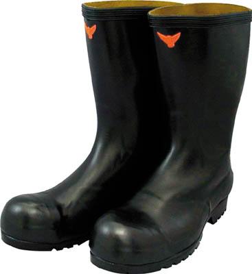 SHIBATA 安全耐油長靴(黒)【SB021-25.5】(安全靴・作業靴・安全長靴)
