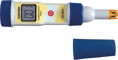 カスタム 防水型導電率計【CD-6021】(計測機器・水質・水分測定器)