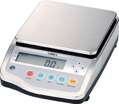 ViBRA 高精度電子天びん(防水・防塵型)8200g【CJ-8200】(計測機器・はかり)(代引不可)