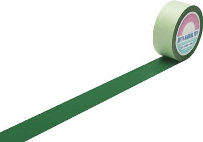 緑十字 ラインテープ(ガードテープ) 緑 50mm幅×100m 屋内用【148052】(テープ用品・ラインテープ)