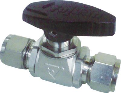 フジキン ステンレス鋼製4.90MPaパネルマウント式ボール弁【PUBV-95-10】(管工機材・バルブ)