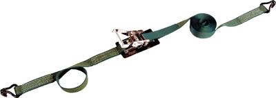 TRUSCO 強力型ベルト荷締機 75mm幅 2500kg Jフックタイプ【GX75-2500J】(吊りクランプ・スリング・荷締機・荷締機)