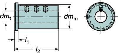 サンドビック 丸シャンクバイト用イージーフィックススリーブ【132N-4032】(旋削・フライス加工工具・ホルダー)