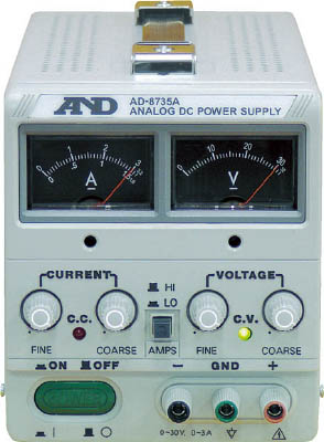 A&D 直流安定化電源トラッキング動作可能アナログ・メーター方式【AD8735A】(電気・電子部品・電源装置)