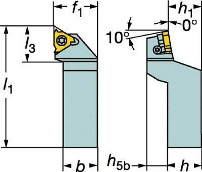 サンドビック コロスレッド266 ねじ切りシャンクバイト【266RFGZ2525-22】(旋削・フライス加工工具・ホルダー)
