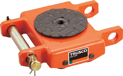 TRUSCO オレンジローラー ウレタン車輪付 低床型 3TON【TUW-3T】(ウインチ・ジャッキ・運搬用コロ車)