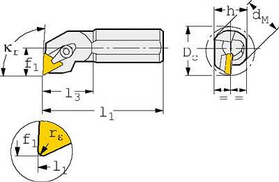 サンドビック T-Max S ポジチップ用ボーリングバイト【S20S-CTFPR 11】(旋削・フライス加工工具・ホルダー)