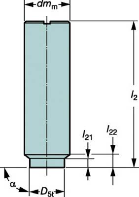 サンドビック コロミルEH円筒シャンクホルダ【E10-A16-SS-065】(旋削・フライス加工工具・ホルダー)