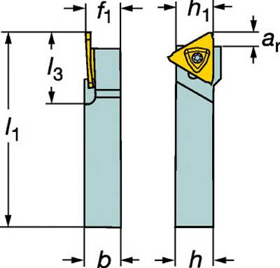 サンドビック コロカット3 突切り・溝入れシャンクバイト【RF123T06-1010BM】(旋削・フライス加工工具・ホルダー)