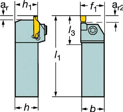 サンドビック コロカット1・2 突切り・溝入れ用シャンクバイト【RF123G07-2525C】(旋削・フライス加工工具・ホルダー)