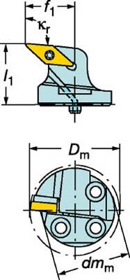 サンドビック コロターンSL コロターン107用カッティングヘッド【570-SVLBR-40-16】(旋削・フライス加工工具・ホルダー)