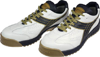ディアドラ DIADORA 安全作業靴 ピーコック 白/黒 26.5cm【PC12-265】(安全靴・作業靴・プロテクティブスニーカー)