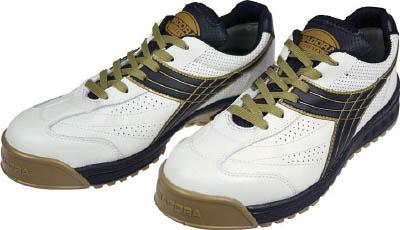 ディアドラ DIADORA 安全作業靴 ピーコック 白/黒 28.0cm【PC12-280】(安全靴・作業靴・プロテクティブスニーカー)