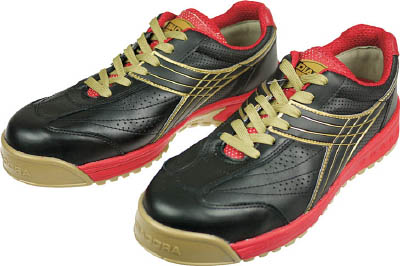ディアドラ DIADORA 安全作業靴 ピーコック 黒 25.0cm【PC22-250】(安全靴・作業靴・プロテクティブスニーカー)