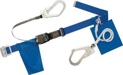 ツヨロン ランヤード2本式安全帯 青色 軽量型【RL-2-593S-BL4-BP】(保護具・安全帯)