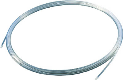 TRUSCO フッ素樹脂チューブ 内径8mmX外径10mm 長さ20m【TPFA10-20】(理化学・クリーンルーム用品・特殊チューブ)