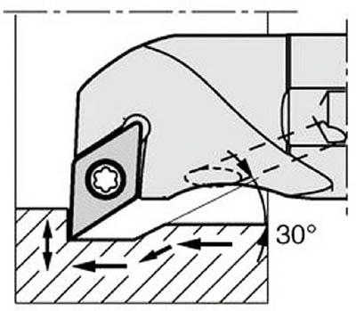 京セラ 内径加工用ホルダ 【A16Q-SDUCR07-20AE】(旋削・フライス加工工具・ホルダー)