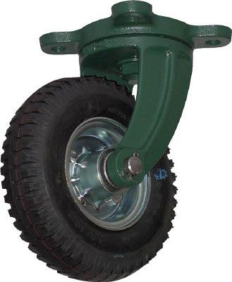 TRUSCO 鋼鉄製運搬車用空気タイヤ 鋳物金具自在Φ223(2.50-4)【OARJ-223】(運搬台車・合板製運搬車)