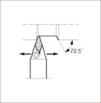 京セラ 外径加工用ホルダ 【MVVNN2525M-16】(旋削・フライス加工工具・ホルダー)
