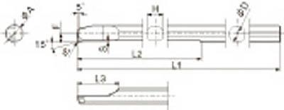 京セラ 旋削用チップ ダイヤモンド KPD001【PSBR0606-70NBS KPD001】(旋削・フライス加工工具・チップ)