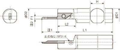 京セラ 内径加工用ホルダ 【S19H-SVNR12SN】(旋削・フライス加工工具・ホルダー)