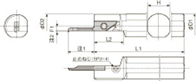 京セラ 内径加工用ホルダ 【S25.0G-SVNR12SN】(旋削・フライス加工工具・ホルダー)