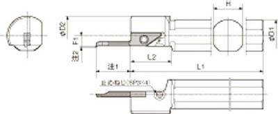 京セラ 内径加工用ホルダ 【S20H-SVNR12N】(旋削・フライス加工工具・ホルダー)