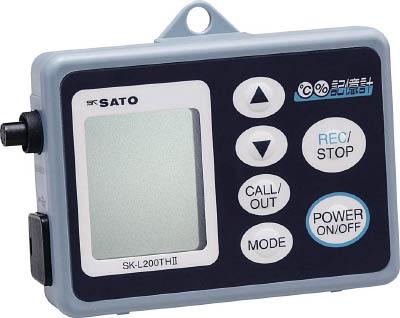 佐藤 データーロガー温湿度用【SK-L200TH2-A】(計測機器・温度計・湿度計)