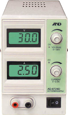 A&D 直流安定化電源 30V 2.5A【AD8724D】(電気・電子部品・電源装置)