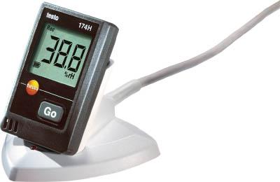 テストー ミニ温湿度データロガUSBインターフェイス付セット【TESTO174H-S】(計測機器・温度計・湿度計)