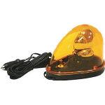 トーグ 流線型LED回転灯 イエロー【SKM-PHL-Y】(安全用品・標識・工事灯)