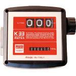 アクア 簡易機械式流量計(灯油・軽油用)【MK33-25D】(ポンプ・ホース配管接続用ポンプ)