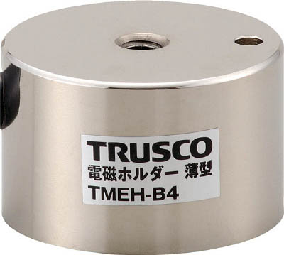TRUSCO 電磁ホルダー 薄型 Φ60XH40【TMEH-B6】(マグネット用品・電磁ホルダ)